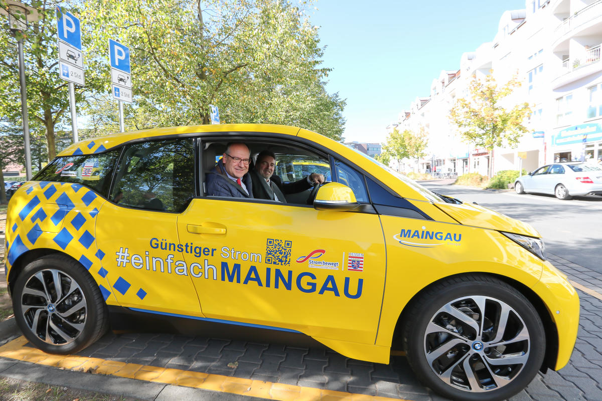Start des E-Carsharings der Maingau Energie in Dietzenbach